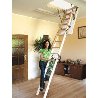 Lyte Easiloft Timber 4 Section Loft Ladder