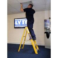Lyte Glassfibre Swingback Stepladders - EN131 Professional
