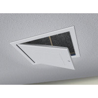 Drop Down Loft Access Hatch with Twist Action Catch