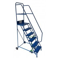 Klime-ezee Industrial Mobile Steps with Double Handrails - 300 Kg Capacity