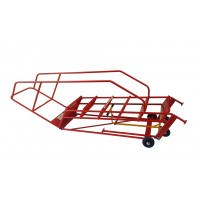 Klime-ezee Knock Down Mobile Step with Double Handrails