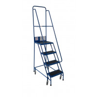 Klime-ezee Warehouse Narrow Aisle Steps with Double Handrails - 300kg Capacity