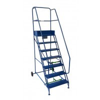 Klime-ezee Extra Wide Mobile Step with Double Handrail - 300 Kg Capacity