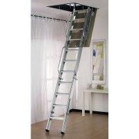 Dimes L3 Folding Steel Loft Ladder - 3.50m Galvanised Steel