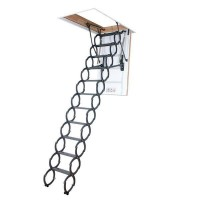 Fakro LST 280 Powder Coated Scissor Style Loft Ladder With Hatch