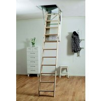 Midmade LUX A1120 3 Section Timber Loft Ladder