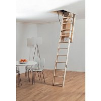 Scandinavian MidMade Deluxe Fire Certified Folding Timber Loft Ladder - 700 x 1130mm