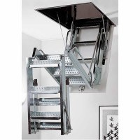 Roof Opening Folding Galvanised Steel Access Ladders