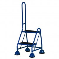 Steptek Single Sided Mobile 2 Step with Single Grab Handle - Blue
