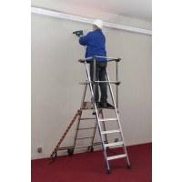 Zarges Sherpamatic Folding Work Platform Ladder 3 Tread