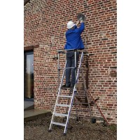 Zarges Sherpamatic Folding Work Platform Ladder