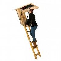 Stira Electric Timber Loft Ladders
