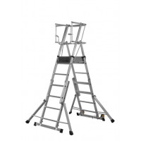 Youngman Teleguard Telescopic Platform Ladder - 4-6 Rung