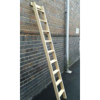 timber shelf ladder