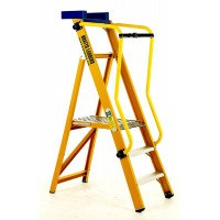 VISION 360 Glass Fibre Platform Stepladders with Handrails