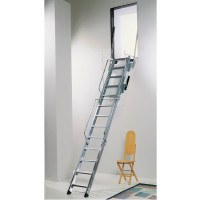 Wall Opening Folding Galvanised Steel Access Ladders