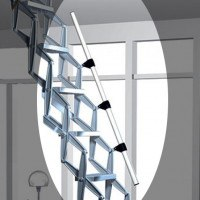Telescopic Handrail for Zig Zag Heavy Duty Concertina Ladder