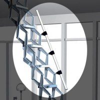 Telescopic Handrail for Zig Zag Concertina Ladder