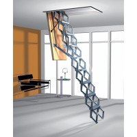 Zig Zag Heavy Duty Concertina Ladder with Trapdoor