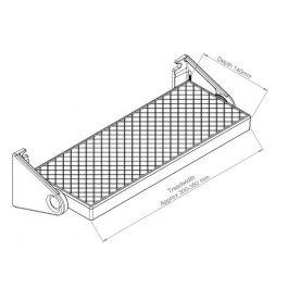 Extra Tread Inc Wall Brackets For Zig Zag Concertina Ladder