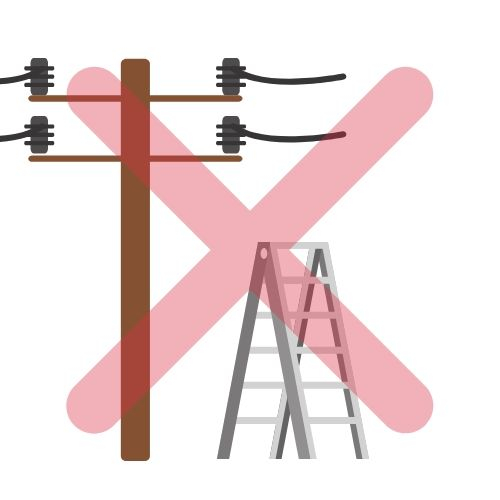 Avoid overhead power lines