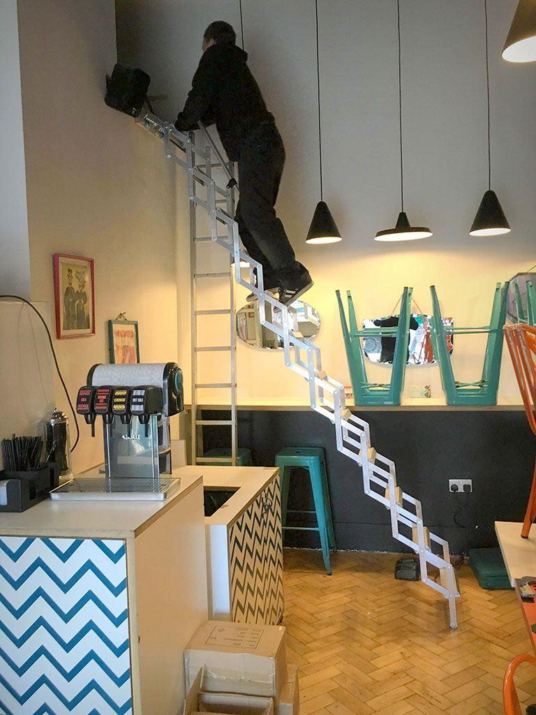 Zig Zag Ladder at Changos Burrito Bar