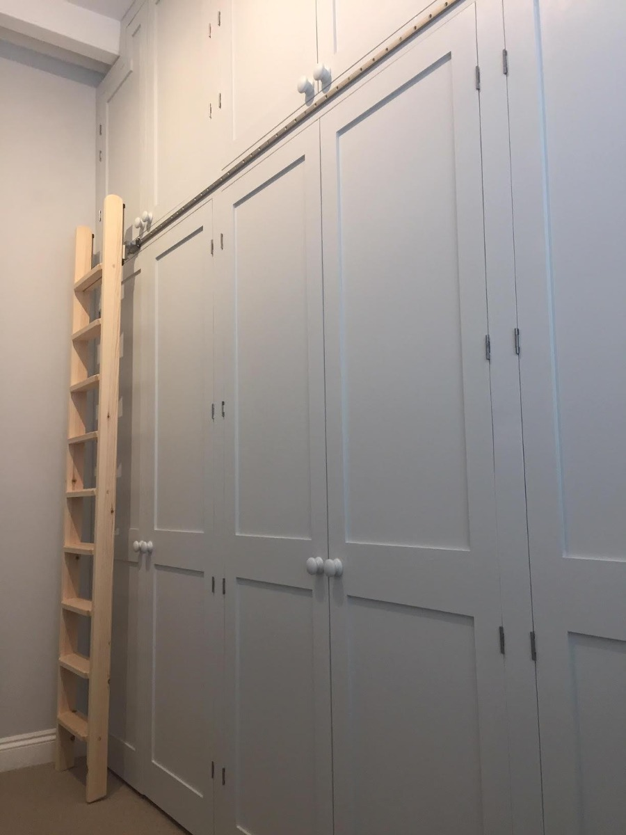 new storage solution with rolling ladder image