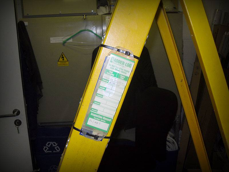 Ladder log tag in use