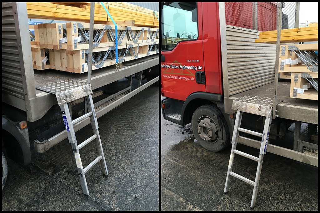 Loadstep vehicle access ladder at yorkshire timber engineering