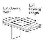 Loft Opening Dimensions
